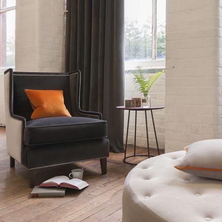 Effen velours meubelstoffen voor klassiek en moderne stoffering - Moderne stoffering ...