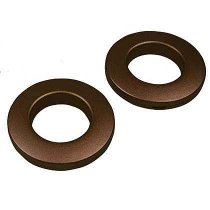 Clip-together Eyelets, Choclat  Matt