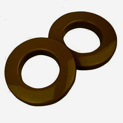 Clip-together Eyelets, Brown