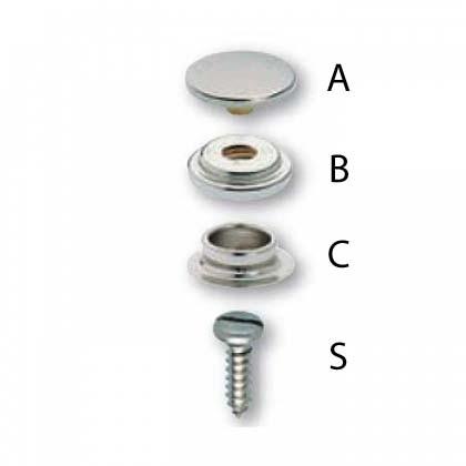 Prym Drukknopen A, B, C & S-19mm INOX A2
