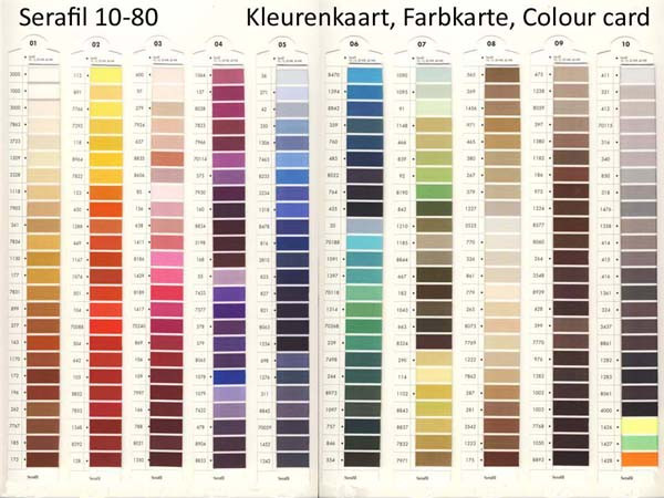 Serafil Colour Card
